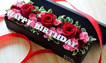 誕生日プレゼントに最適なボックスフラワー