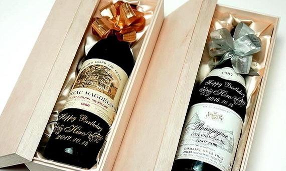 誕生日プレゼントにピッタリな木箱入り名入れワイン
