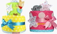 誕生日プレゼント・ミキハウスのおむつケーキ