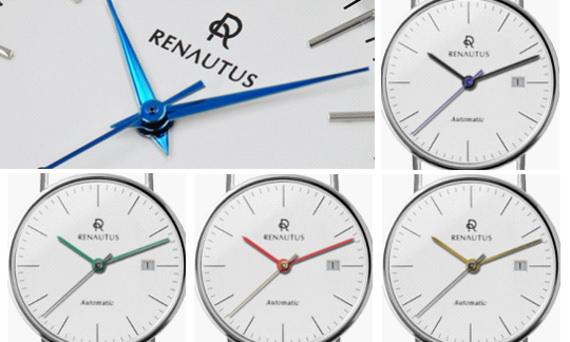 針のカスタムオーダーも可能な腕時計