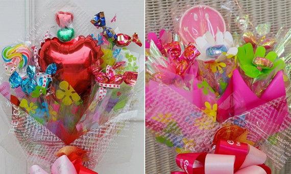 センスを感じる誕生日プレゼント・キャンディーブーケ